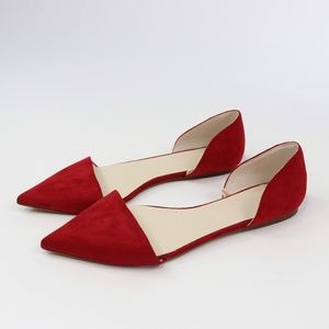 Zara Basic Collection Red Flats - 39